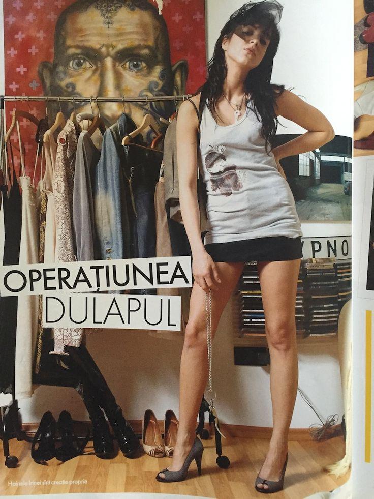 Irina Marinescu featured in ELLE Romania, April 2007 issue. / editorial by Laura Vargalui