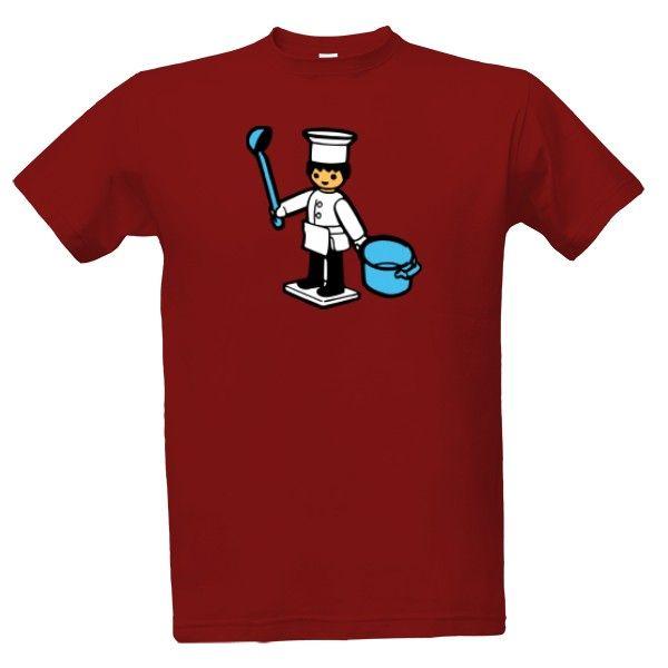 Tričko s potiskem Igráček kuchař