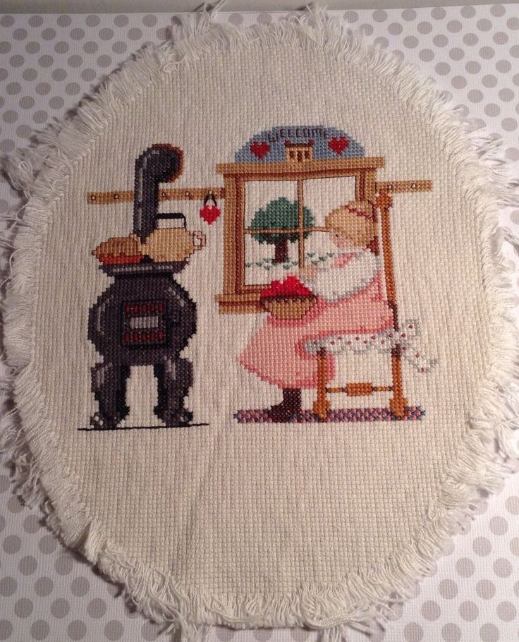 Up for sale is a finished completed counted cross stitch oval picture in a  grandma Moses - 25+ Best Ideas About Wood Burning Cook Stove On Pinterest Oven