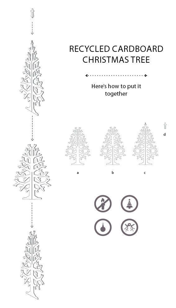 Cardboard christmas tree L