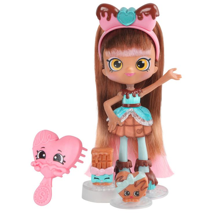 Introducing all new Shoppies, ready to show off their style!<br><br>Colette is always chasing her dreams - the sweetest dreams! She's a softie at heart and goes out of her way to help out her friends. She keeps her place stocked with the best chocolates - a visit to her place is truly a treat! <br><br>Colette comes with a hair brush, 2 Exclusive Shopkins (her BFFs!), a purse, a doll stand, and a VIP card that unlocks bonus content in the Welcome to Shopville App.&...