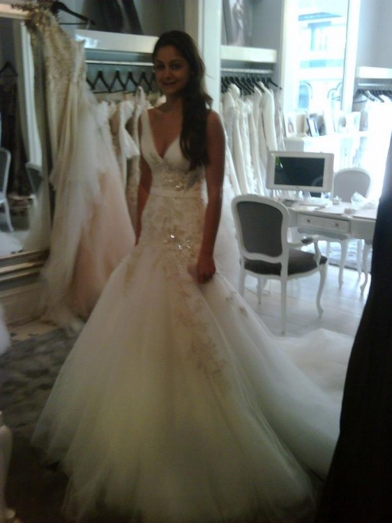Steven khalil size 8 wedding dress wedding dresses for for Steven khalil mermaid wedding dress