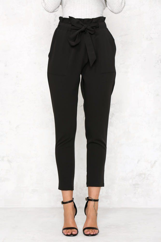 I am very intrigued by these pants...they have a very classic look but the bow is feminine yet different