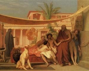 Socrates seeking Alcibiades in the House of Aspasia - Jean-Leon Gerome