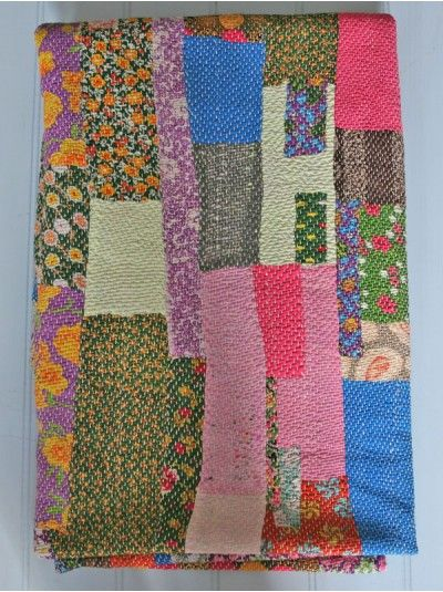 136 best Quilts - Kantha/Indian Quilts/Blankets images on ... : indian sari quilts - Adamdwight.com