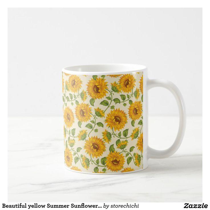 Beautiful yellow Summer Sunflowers pattern