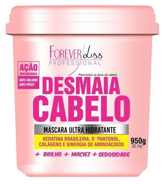 Forever Liss Máscara Desmaia Cabelo Anti Volume e Frizz 950g http://www.lookstore.com.br/forever-liss-mascara-desmaia-cabelo-anti-volume-e-frizz-950g