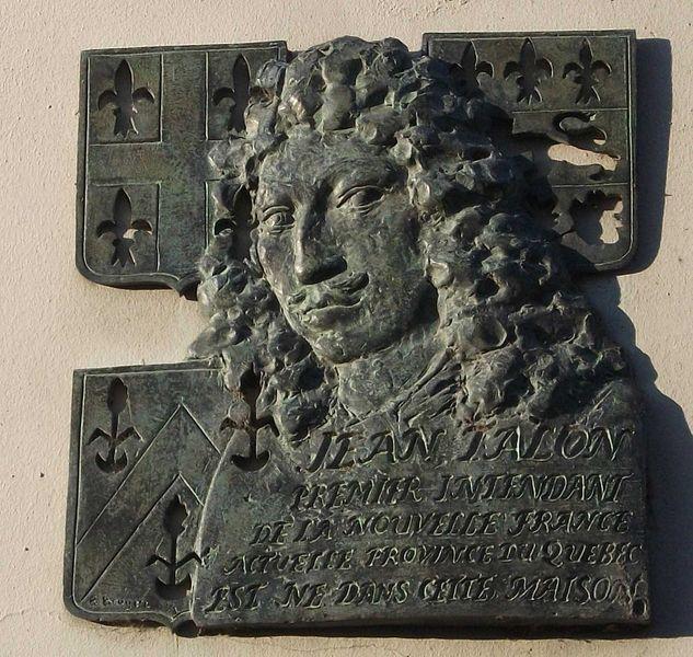 Plaque apposée sur la maison natale de Jean Talon à Châlons-en-Champagne, France