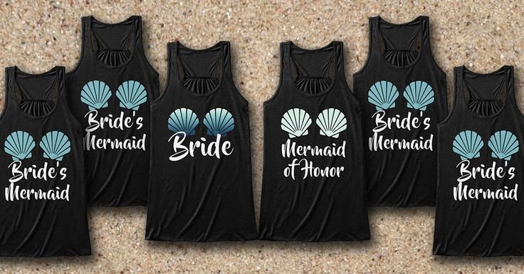 Bridal Party tanks Mermaid Style!!!                                                                                                                                                                                 More