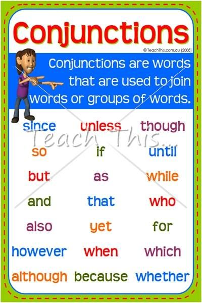 Teaching Conjunctions - grammar.yourdictionary.com