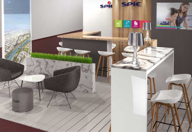 Pravda Stand Design Comptoir Marbre blanc