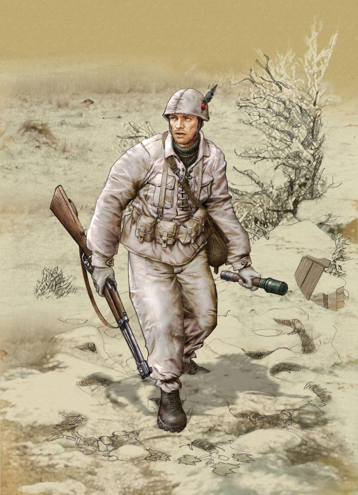 """R.S.I. - Alpino del Battaglione """"Monte Cervino"""" all'assalto"""