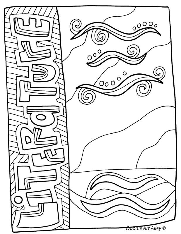 Free, printable Subject Cover Pages Coloring Pages for