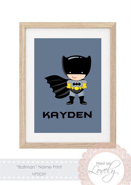""" BATMAN "" NAME Print A4 Cardstock | Print Me Lovely | madeit.com.au"