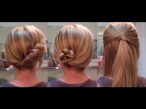 Good tutorial on 3 cute and easy hair styles