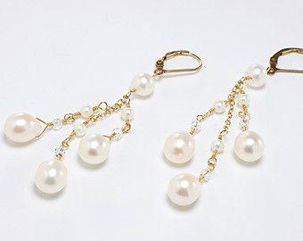 Lámpara novia pendientes joyas de novia por BethDevineDesigns