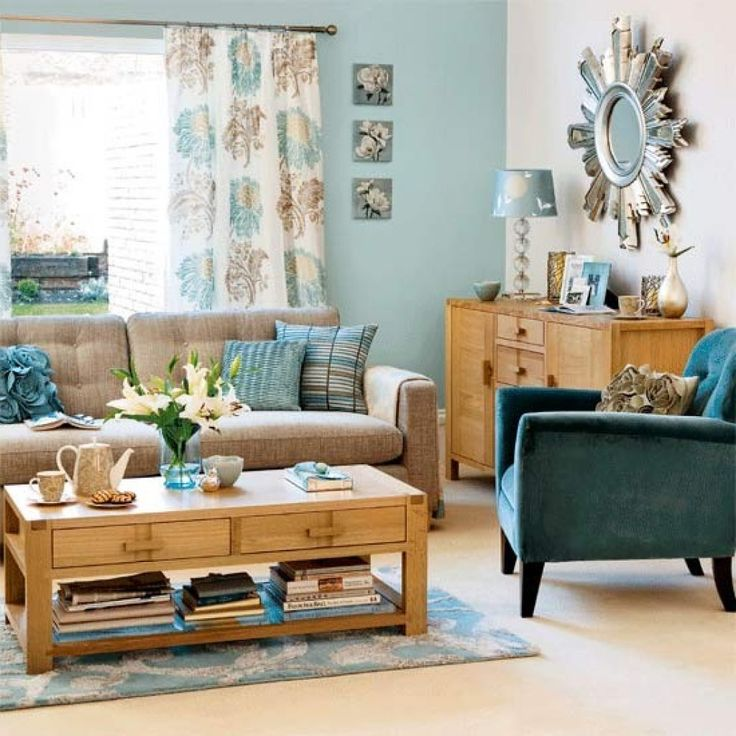 Teal And Tan Living Room | Living Room Inspirations | Pinterest | Duck Egg  Blue Living Room, Duck Egg Blue And Living Rooms