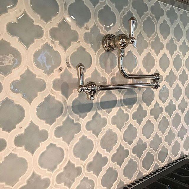 beautiful arabesque tile backsplash
