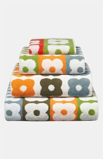 Orla Kiely 'Multi Flower Stem' Wash Towel