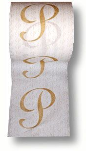 because who doesn't need a roll of monogrammed toilet paper?!?