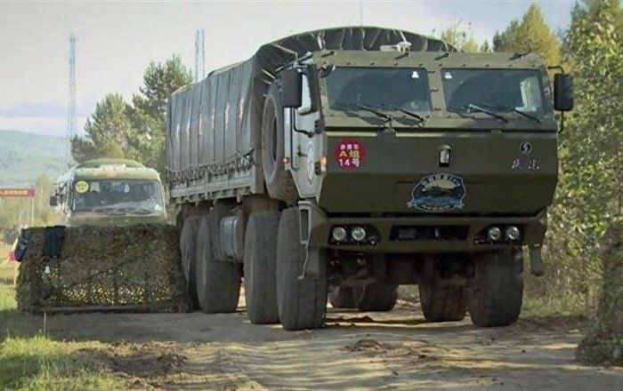 "An unarmed 8-wheel, 4-axle prototype vehicle designed to carry supplies was revealed in a video recently released by the Chinese Ministry of National Defense (MND), and documented by British military and aerospace publishing company IHS Jane's. Released July 16, the English-language PLA Today video does not contain specifics about the purported autonomous ""battlefield smart supply"" vehicle, other than to assert that China's military capabilities are on the rise, Jane's noted."