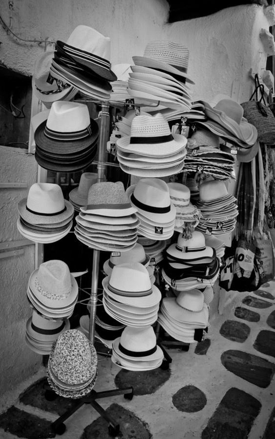 Hats For Sale, Mykonos, Greece *