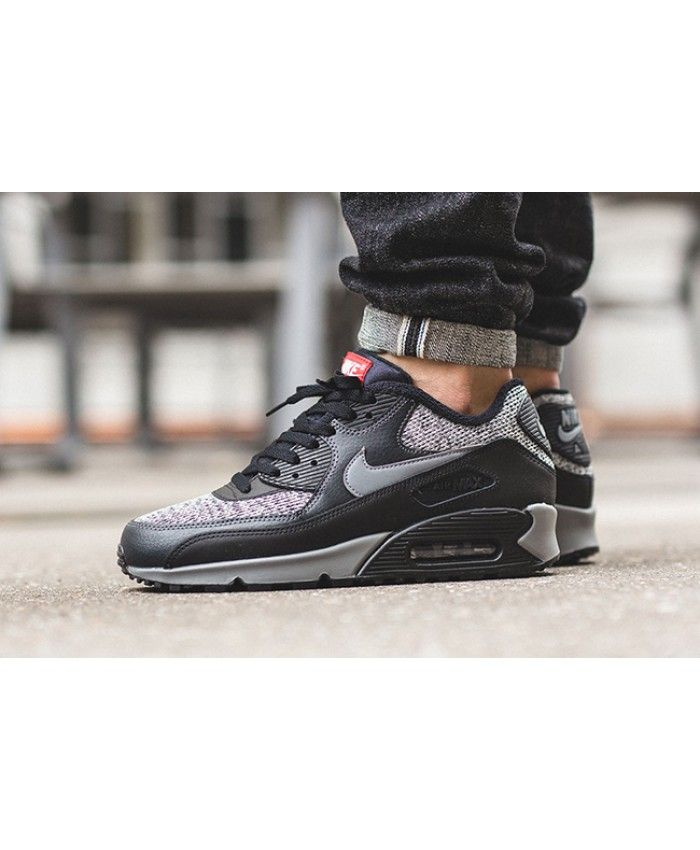 sale retailer 59f88 ba2e3 Cheap Nike Air Max 90 Essential Knit Black Mens Trainers   nike air max 90  essential   Nike air max, Air max 90, Nike