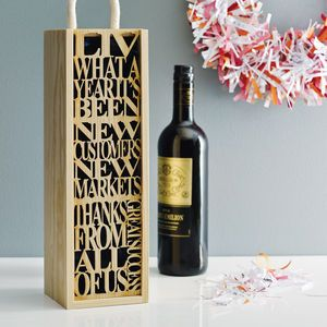 Personalised Bottle Box - gifts for him                                                                                                                                                                                 More