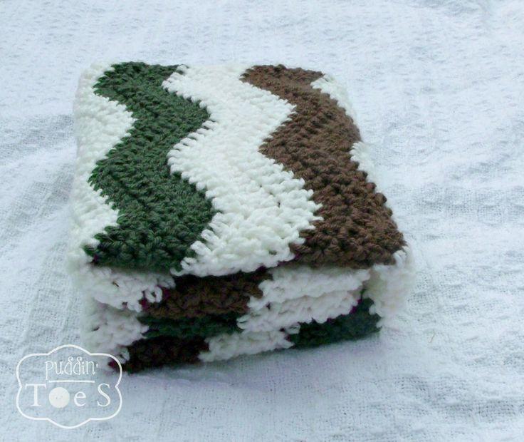 Camo Baby Boy Blanket, Camouflage Baby Boy, Baby Chevron Blanket Crochet Baby Blanket, Crochet Chevron Baby Blanket, Baby Hunting Decor by puddintoes on Etsy https://www.etsy.com/listing/203077334/camo-baby-boy-blanket-camouflage-baby