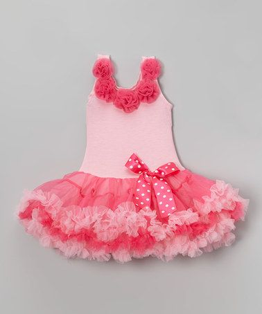 Loving this Pink Bow Dress - Infant, Toddler & Girls on #zulily! #zulilyfinds