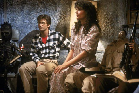 Love Beetlejuice!  Geena Davis and Alec Baldwin in Beetlejuice.