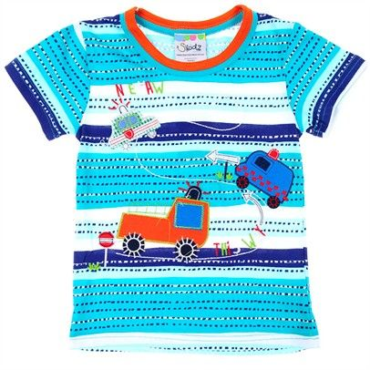 boys blue car stripe ttshirt Top-SN2-AJ15089-C-Green $14.00 on Ozsale.com.au