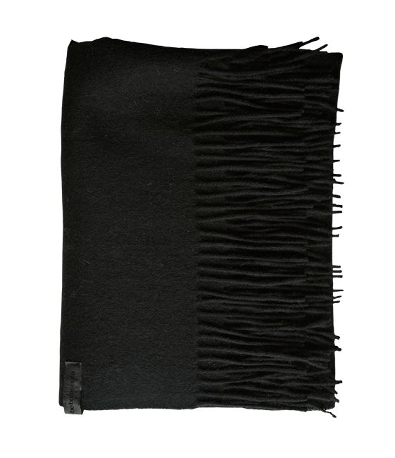 Amazing Amy - Black Wool/Cashmere Scarf - 95 % Wool / 5 % Cashmere