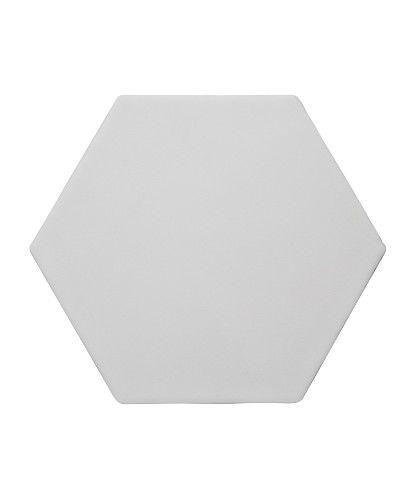 Marrakech Hexagon White Plain