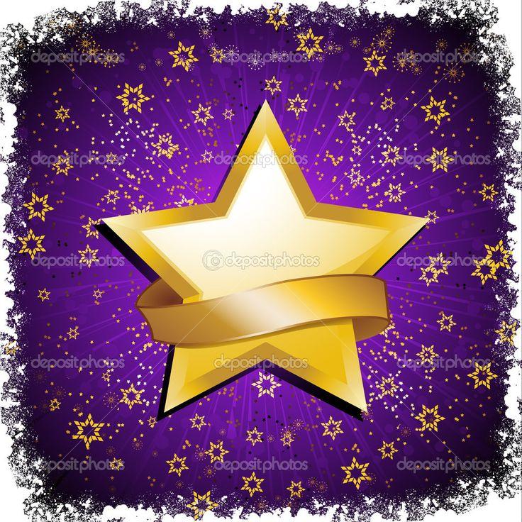 purple and gold stars - photo #3