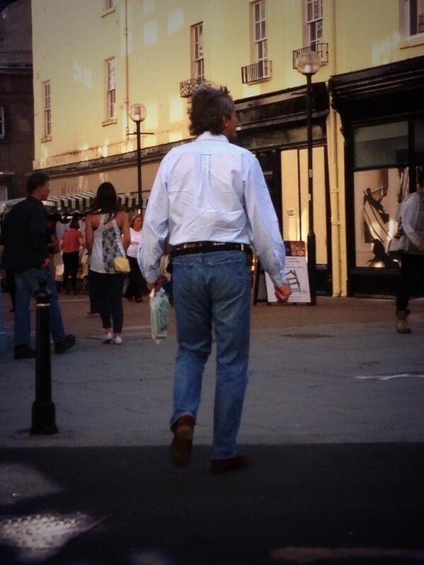 The man himself shopping in Bath 2013