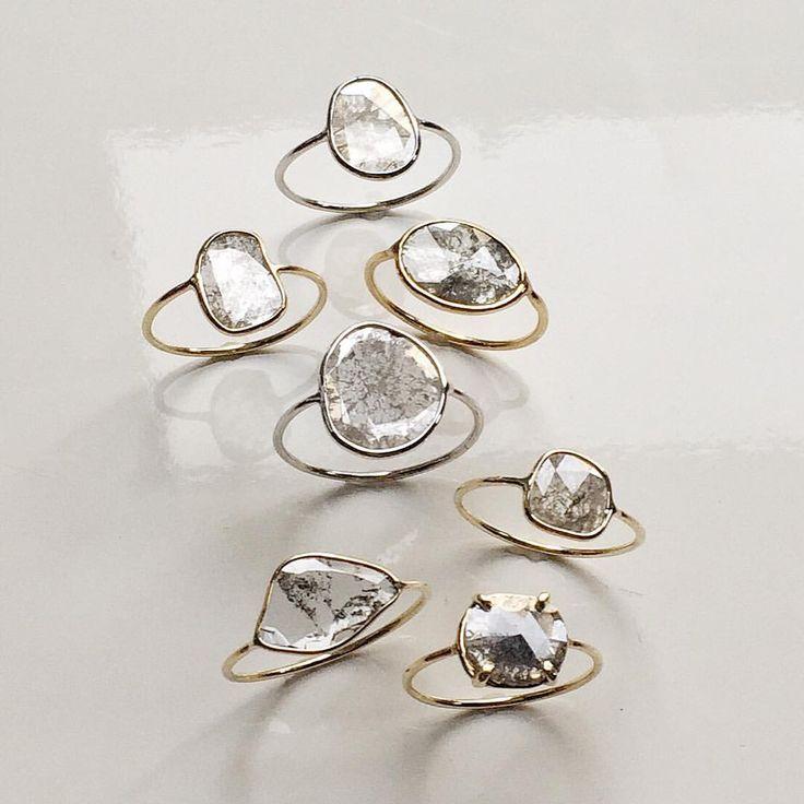 bezel set diamond slices