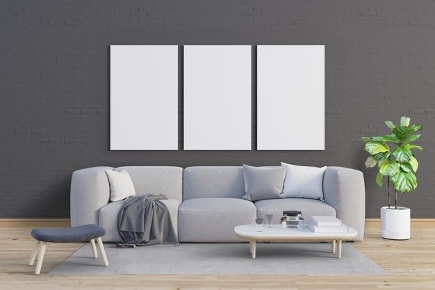 Ranging from print photoshop mockups, apparel, packaging, screen, logo, and more Living Room With Gentle Tones And Mockup Frames Set Frame Set Wall Decor Pictures Living Room