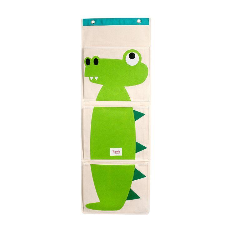 Alligator wall organizer hanging organizer with pockets for Nursery hanging storage