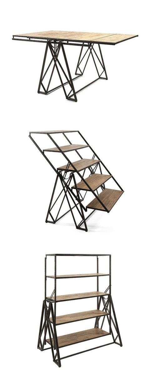 very cool! three pieces of furniture in one.