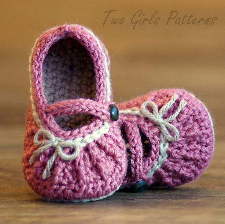 Crochet Pattern  210 Too Cute Mary Janes with por TwoGirlsPatterns