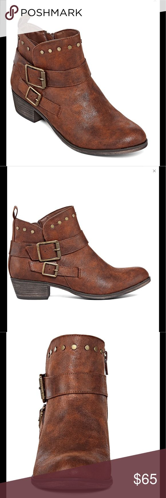 "Archer Beaded Bootie Boots Cognac A sleek, simple design mixes with unique stud details for versatile booties that will be your go-to choice all season long. polyurethane upper, 1½"" heel, rubber soles. Medium width. REVIEWS - 4.6 out of 5 from 174 sales. 071720171359801 Shoes Ankle Boots & Booties"