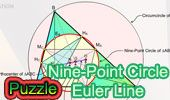 Geometry Puzzle: Euler Line & Nine Point Center. Online Jigsaw Puzzles: Geometry for Children.