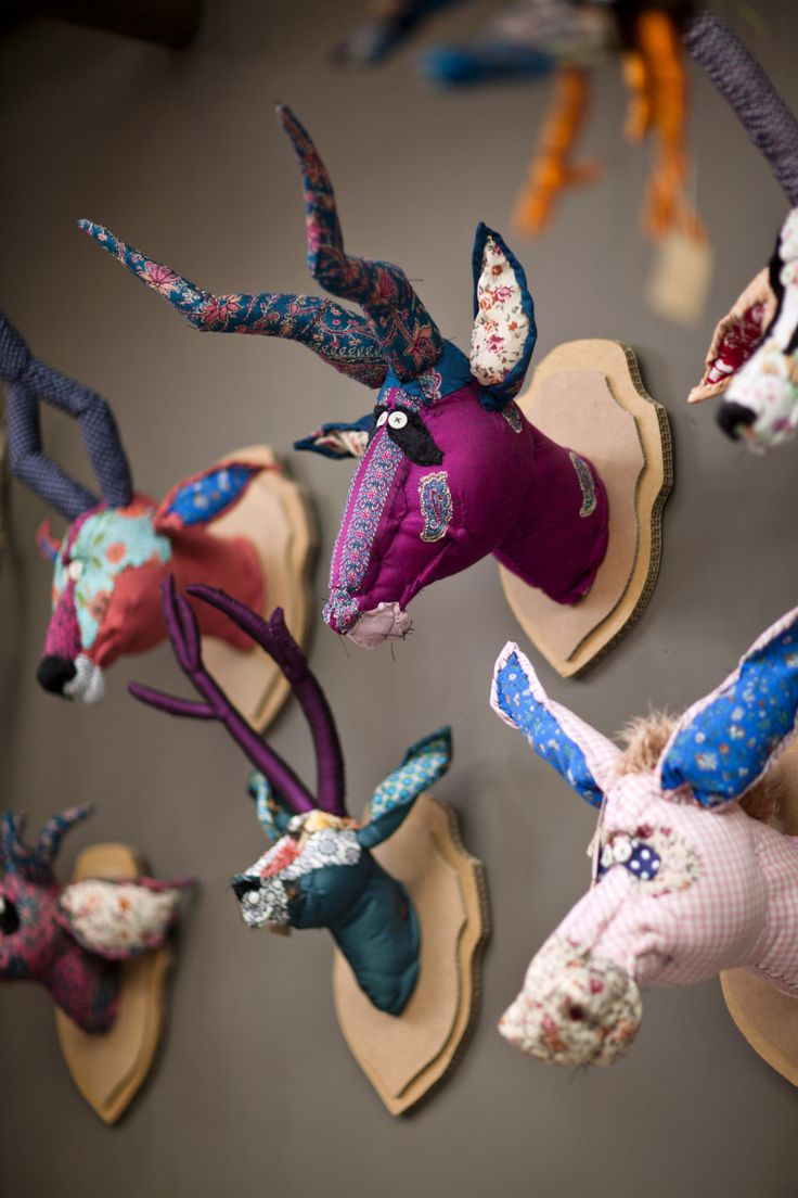 Eco-Friendly Animal Heads by serendipityparis #Toys #Stuffies