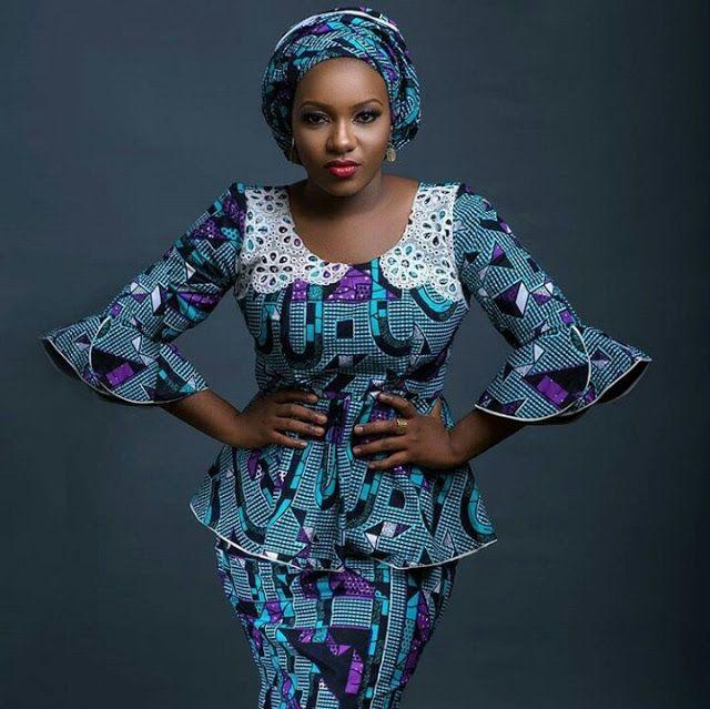 Ankara Styles On Yoruba Ladies | ankara and lace peplum ...