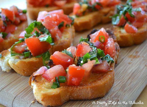 basil and tomato bruschetta