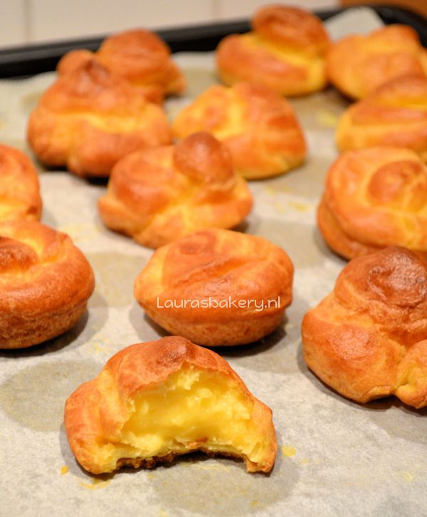 Soesjes recept - Laura's Bakery Bloem vervangen door Schär C + 1 thlp bakpoeder