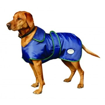 WEATHERBEETA WINDBREAKER 420D WITH BELLY WRAP DOG COAT - Showerproof, outer shell with boa fleece lining for warmth, full wrap belly closure, collar with leash for convenience! Features: medium warmth, shower proof, machine wash, breath easy.