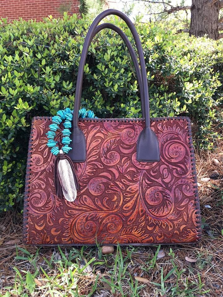 Juan Antonio Tooled Whipstitch Purse - Ya Ya Gurlz