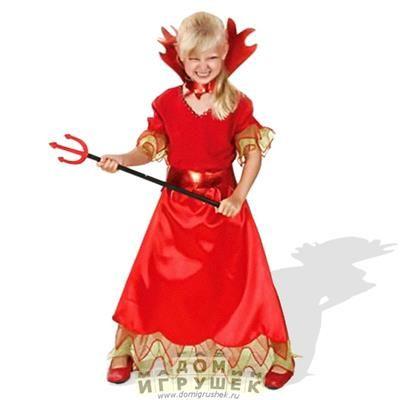 Детский костюм дьявола для девочки